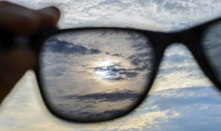 Watching through sunglasses